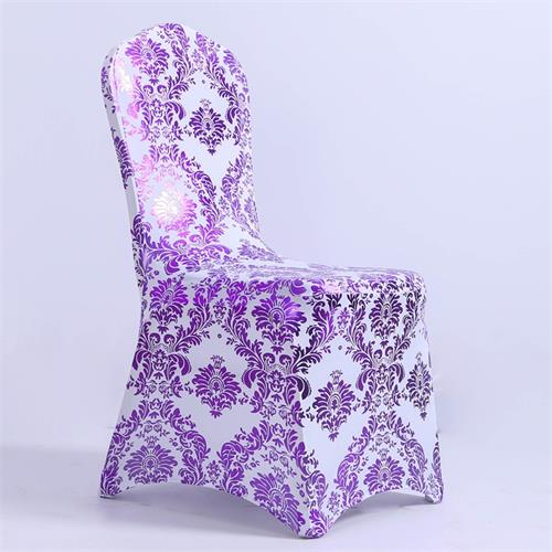 Print Fabric Dining Chair Covers Stretch Universal Size Removable Banquet Wedding Party Chair Cover Slipcover