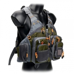Fly Fishing Vest With Multi function Pockets Adjustable-size Mesh Fishing Backpack Fly Fishing Jacket