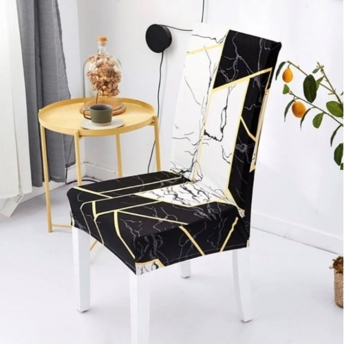 Modern printed chair cover elastic seat chair covers removable and washable stretch banquet hotel dining room cover